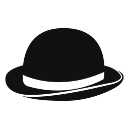Bowler hat flat icon