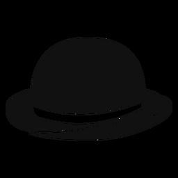 Ícone plana de chapéu-coco
