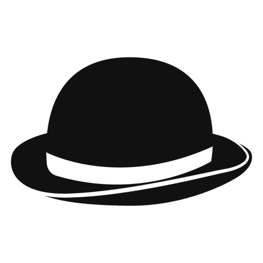 Icono plano de sombrero de jugador de bolos Transparent PNG