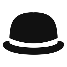 Bowler hat front view icon