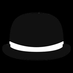 Icono de vista frontal de sombrero de bombín