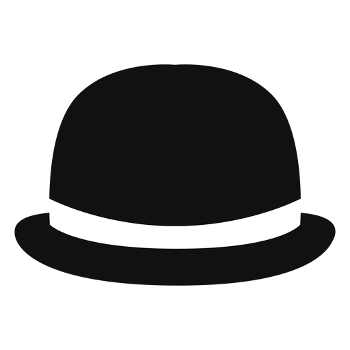 Bowler hat front view icon Transparent PNG