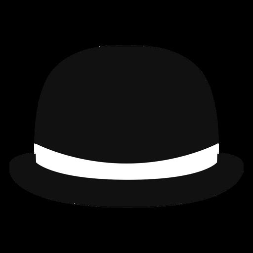 Icono de vista frontal de sombrero de bombín Transparent PNG