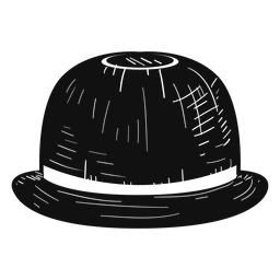 Bowler hat sketch icon