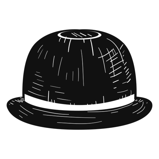 Bowler hat sketch icon Transparent PNG
