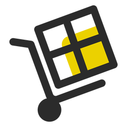 Box on push cart icon