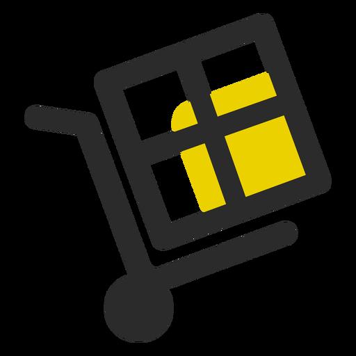 Box auf Push-Cart-Symbol Transparent PNG