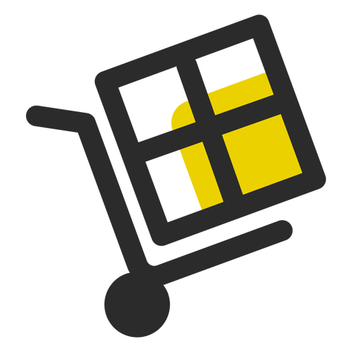 Box on push cart icon Transparent PNG