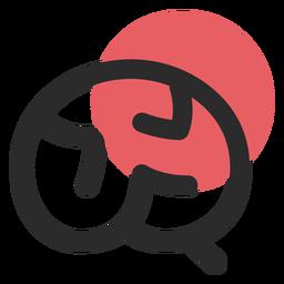 Icono de trazo coloreado de órgano cerebral