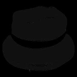 Icono plano de sombrero de cubo