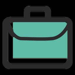 Bolsa de negocios icono de trazo de color