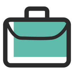 Ícone de traço colorido de bolsa de negócios