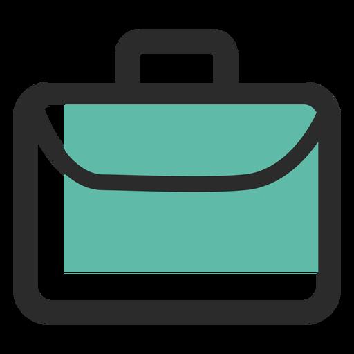 Business bag colored stroke icon