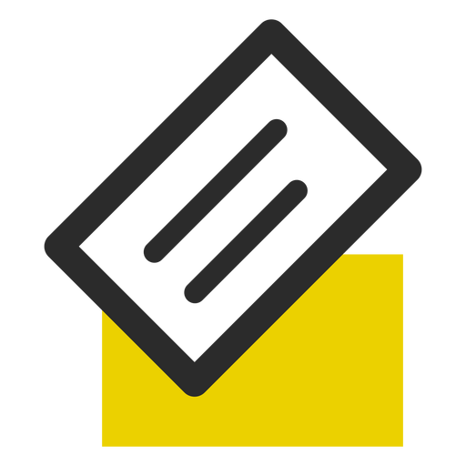 Business card colored stroke icon