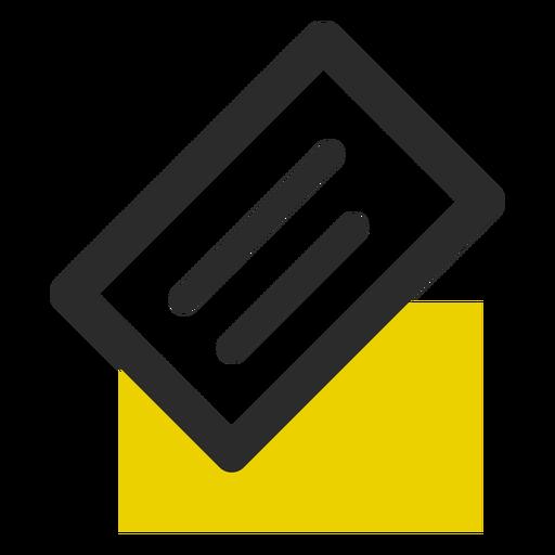 Tarjeta de visita coloreada icono de trazo Transparent PNG
