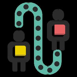 Icono de conexión de negocios