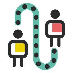 Icono de conexión empresarial