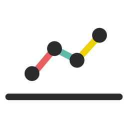 Ícone de gráfico de linha de negócios