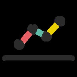 Icono de gráfico de línea de negocio