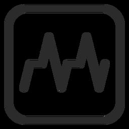 Icono de trazo cardiograma
