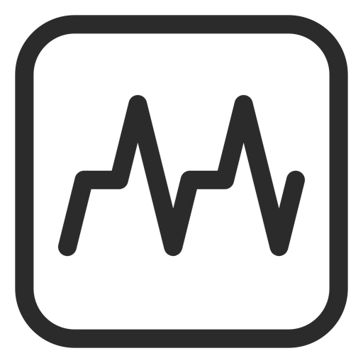 Icono de trazo cardiograma Transparent PNG