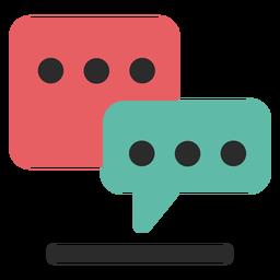 Icono de comunicación de chat