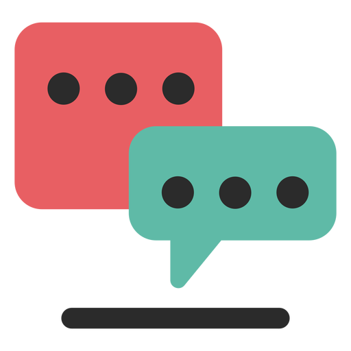 Chat communication icon Transparent PNG