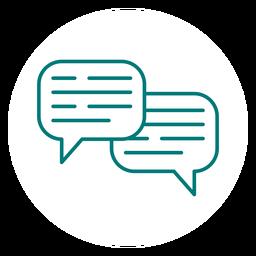 Icono de movimiento de comunicación de chat