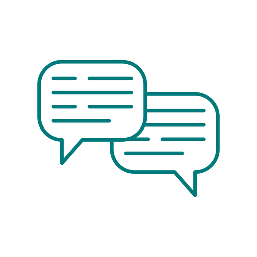 Chat communication stroke icon Transparent PNG