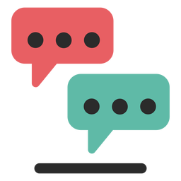 Icono de trazo de color de soporte de chat