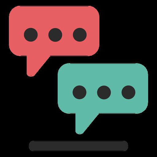Icono de trazo de color de soporte de chat Transparent PNG