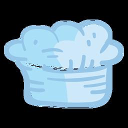 Chef toque blanche sombrero ilustración
