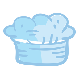 Ilustração de chapéu de chef toque blanche