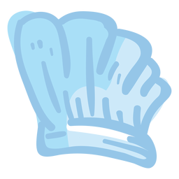 Ilustração de chapéu de toque de chef