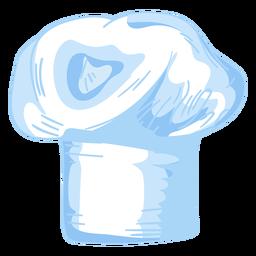 Desenho de chapéu de chefs