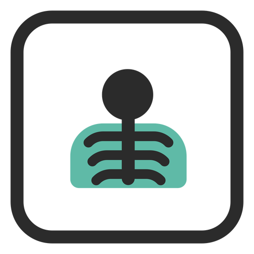 Chest x ray colored stroke icon Transparent PNG