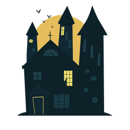 Casa assombrada de Halloween de refrigeração