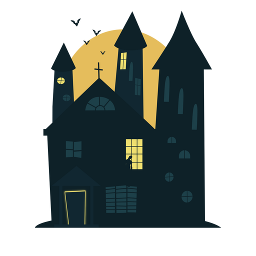 Chilling halloween haunted house Transparent PNG