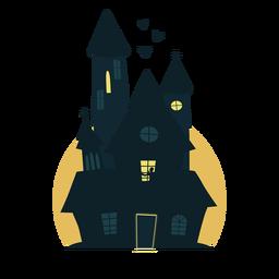 Escalofriante casa de halloween