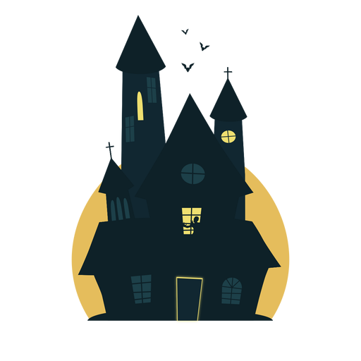 Chilling halloween house Transparent PNG