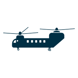 Chinook helicopter silhouette