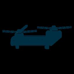 Silueta del helicóptero chinook