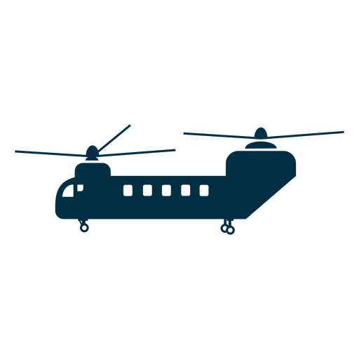 Chinook helicopter silhouette Transparent PNG