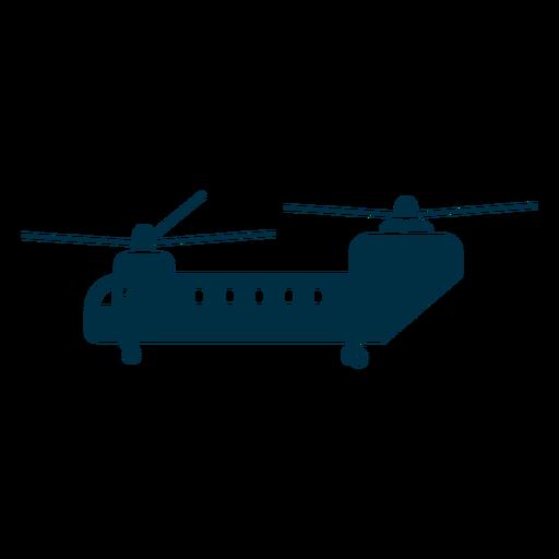 Silueta del helicóptero chinook Transparent PNG