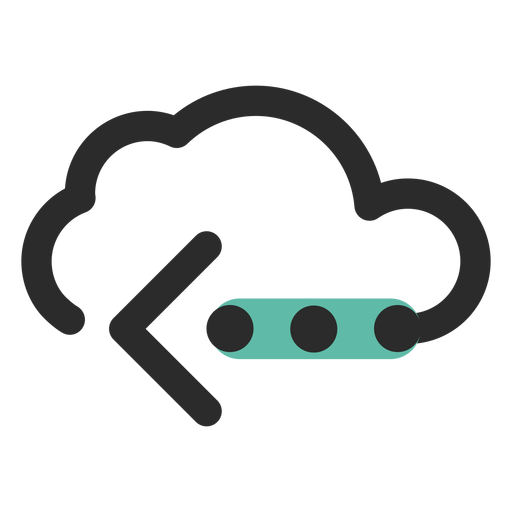 Cloud transfer colored stroke icon Transparent PNG