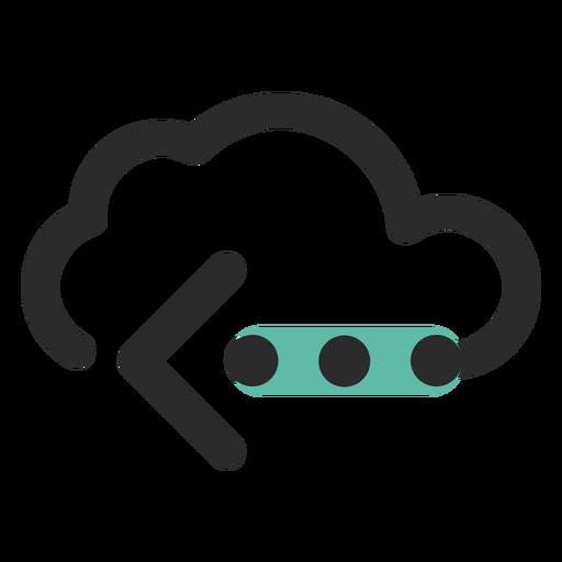 Icono de trazo de color de transferencia de nube Transparent PNG
