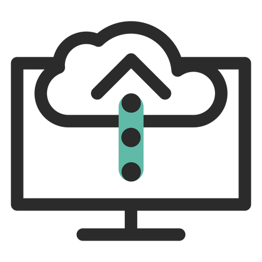 Cloud upload colored stroke icon Transparent PNG