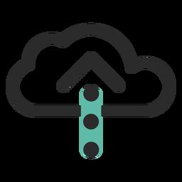 Icono de carga en la nube