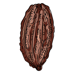 Cocoa pod illustration