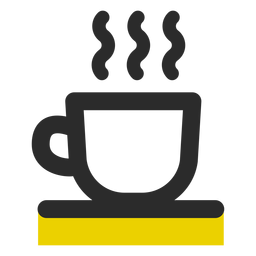 Coffee cup colored stroke icon